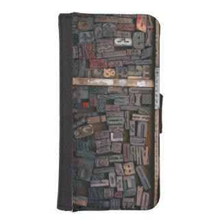 Woodtype Entwurfs-Telefon-Geldbörsen-Kasten iPhone SE/5/5s Geldbeutel