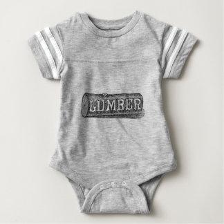 Woodworker-Bauholz-Klotz-Grafik Baby Strampler