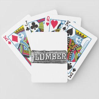 Woodworker-Bauholz-Klotz-Grafik Bicycle Spielkarten