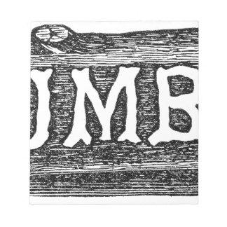 Woodworker-Bauholz-Klotz-Grafik Notizblock