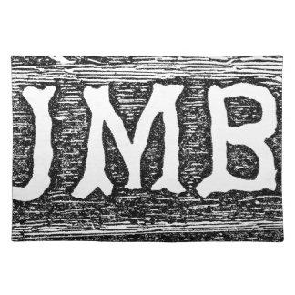 Woodworker-Bauholz-Klotz-Grafik Tischset