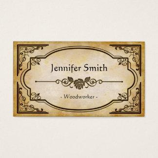 Woodworker - elegante Vintage Antike Visitenkarte