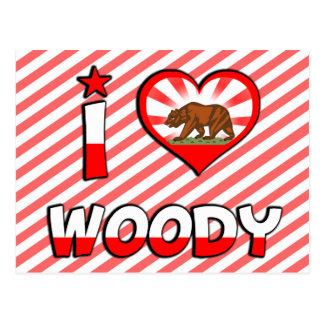 Woody, CA Postkarte