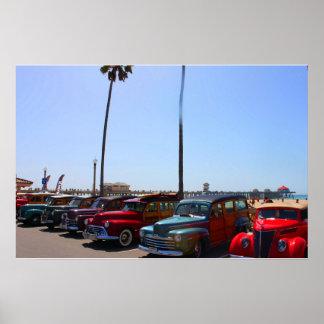 Woodys an Huntington Beach Pier Poster