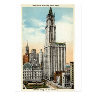 Woolworth Gebäude New York Repro Vintages 1921 Postkarte