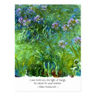 Wordsworth: Weiter gekommen in das Licht von Postkarte