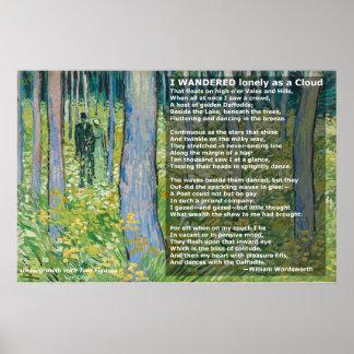 Wordworths I wanderten einsam als Wolke/Narzissen Poster