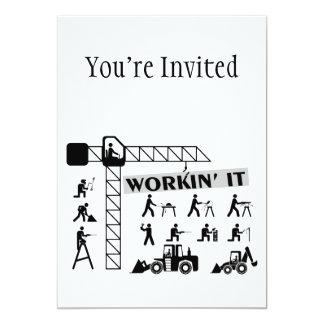 Workin es Arbeiter 12,7 X 17,8 Cm Einladungskarte