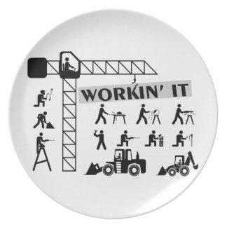 Workin es Arbeiter Melaminteller