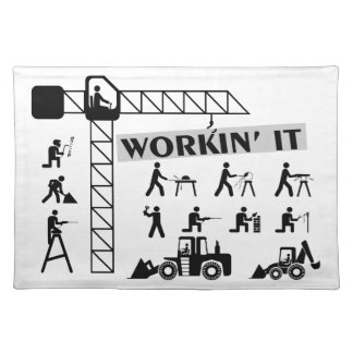 Workin es Arbeiter Stofftischset