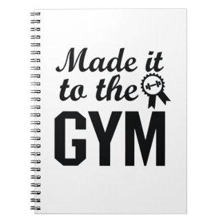 Workout-Fitnessübung Yoga-Motivation machte es Notizblock