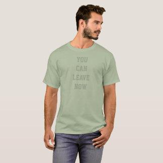 Workout können Sie jetzt gehen der grundlegende T T-Shirt