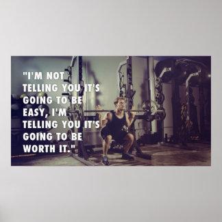 Workout motivierend poster