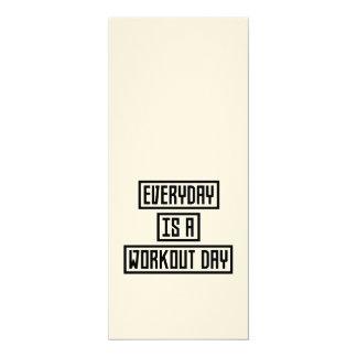 Workout-TagesFitness Zx41w 10,2 X 23,5 Cm Einladungskarte