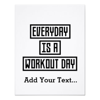 Workout-TagesFitness Zx41w 10,8 X 14 Cm Einladungskarte