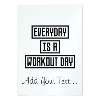 Workout-TagesFitness Zx41w 12,7 X 17,8 Cm Einladungskarte