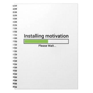 Workout-Turnhallen-Fitnessübung Yoga-Motivationen Notizblock