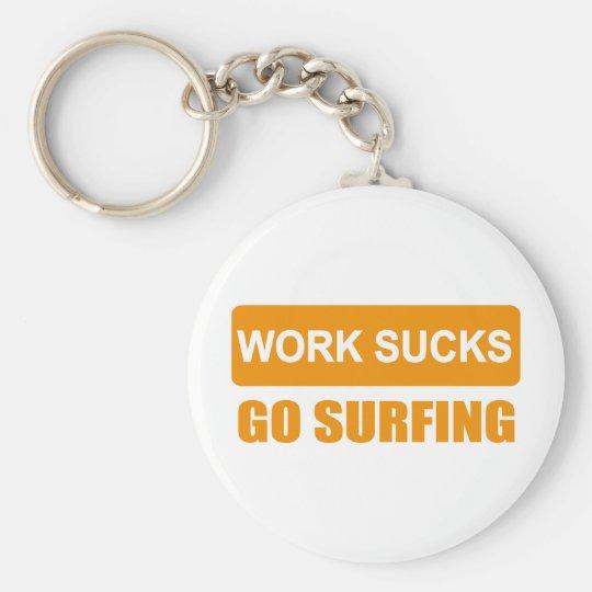 works sucks go surfing schlüsselanhänger