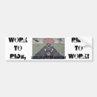 WorkToRide/RideToWork Autoaufkleber