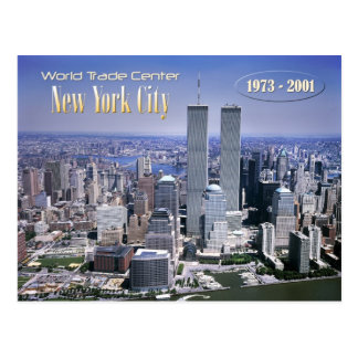 World Trade Center und NYC Skyline Postkarte