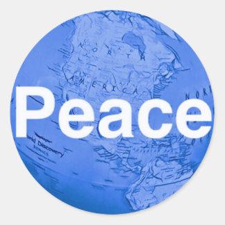 #WorldPeaceStickers Runder Aufkleber