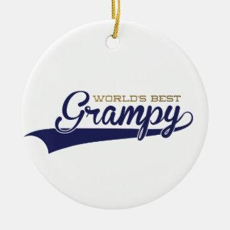 WorldsBestGrampyTee-01 Keramik Ornament