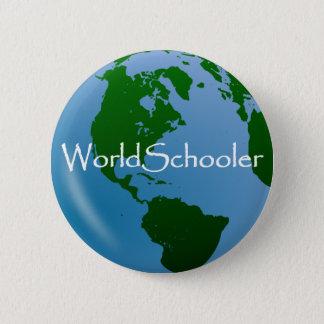WorldSchooler Button-Abzeichen Runder Button 5,7 Cm
