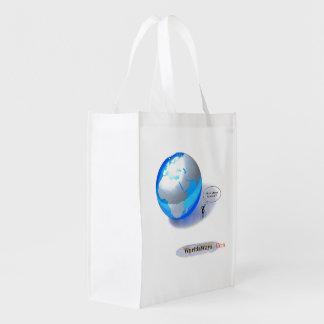 WorldsWays wiederverwendbare Tasche Wiederverwendbare Einkaufstasche