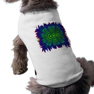 Wormhole-Fraktal-grüne Raum-Neonrohre T-Shirt