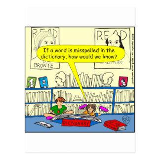 Wort 346 buchstabierte falsch im postkarte