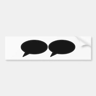 Wort-Blase 2 Schwarzem die MUSEUM Zazzle Geschenke Autoaufkleber