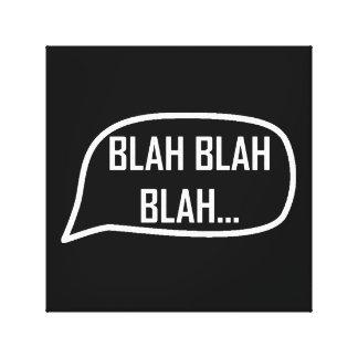 Wort-Blase Blabla Leinwanddruck
