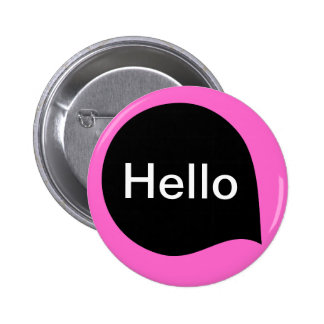 Wort-Blase - Schwarzes auf tiefrosa Runder Button 5,7 Cm
