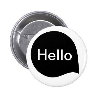 Wort-Blase - Schwarzes auf Weiß Runder Button 5,7 Cm
