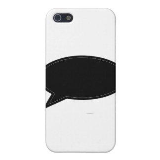 Wort-Blase verlassen schwarz die MUSEUM Zazzle Ges Hülle Fürs iPhone 5