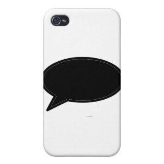 Wort-Blase verlassen schwarz die MUSEUM Zazzle Ges iPhone 4/4S Hüllen