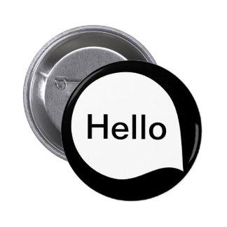 Wort-Blase - Weiß auf Schwarzem Runder Button 5,7 Cm
