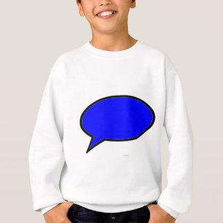 Wort-Blasen-links Blau die MUSEUM Zazzle Geschenke Sweatshirt