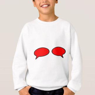 Wort-Blasen-linksrechts Rot die MUSEUM Zazzle Sweatshirt