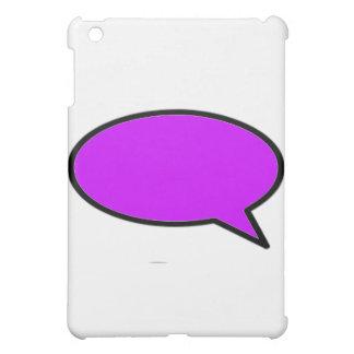 Wort-Blasen-Recht lila die MUSEUM Zazzle Geschenke iPad Mini Cover