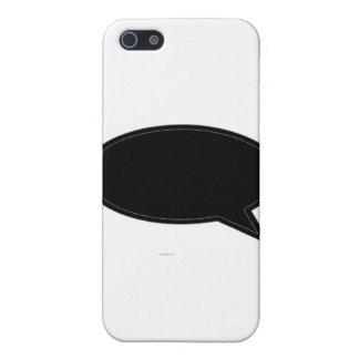 Wort-Blasen-Recht-Schwarzes die MUSEUM Zazzle Gesc Etui Fürs iPhone 5