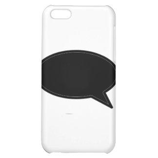Wort-Blasen-Recht-Schwarzes die MUSEUM Zazzle Gesc iPhone 5C Schale