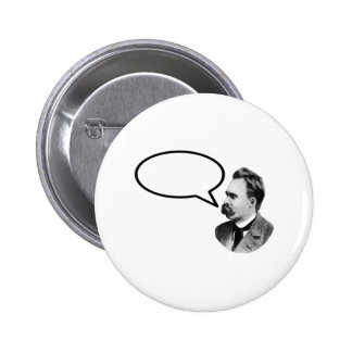 Wort-Blasen-Schwarzes jGibney Friedrich Nietzsche Runder Button 5,7 Cm