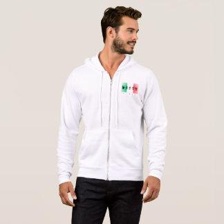 Wort Italien über der italienischen Flagge Hoodie