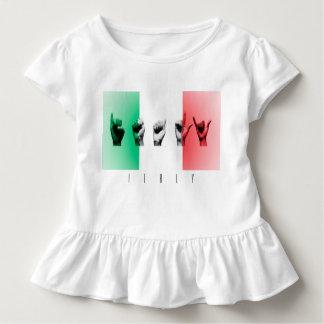 Wort Italien über der italienischen Flagge Kleinkind T-shirt