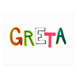 Wort-Kunstgeschenke Greta Spaßes bunte für Postkarte