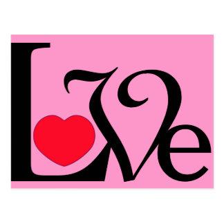 Wort-Liebe-Herz Postkarte