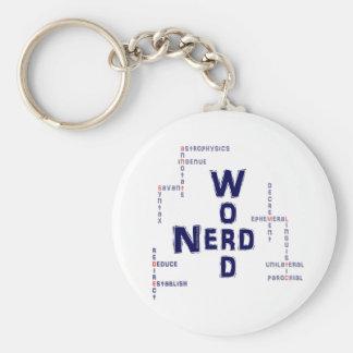 Wort-Nerd Standard Runder Schlüsselanhänger