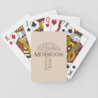 Wort-Pilz-klassische Spielkarten (Brown-Text)