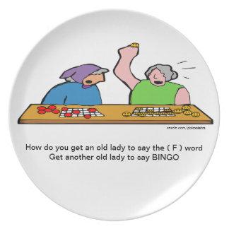 Wort-Platte des Bingo-F Teller